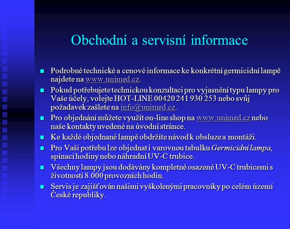 Obchodní a servisní informace