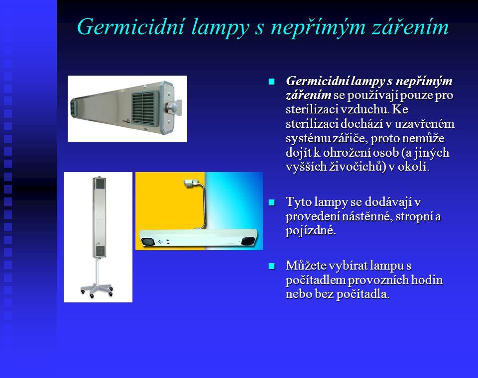 Germicidní lampy s nepřímým zářením
