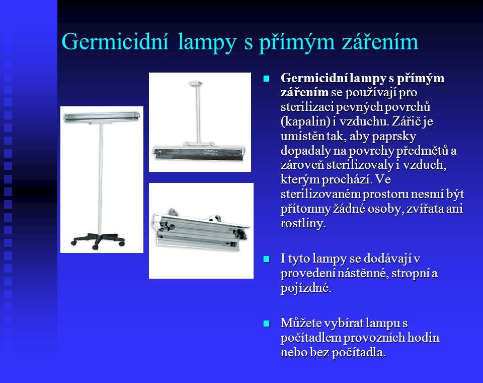Germicidní lampy s přímým zářením