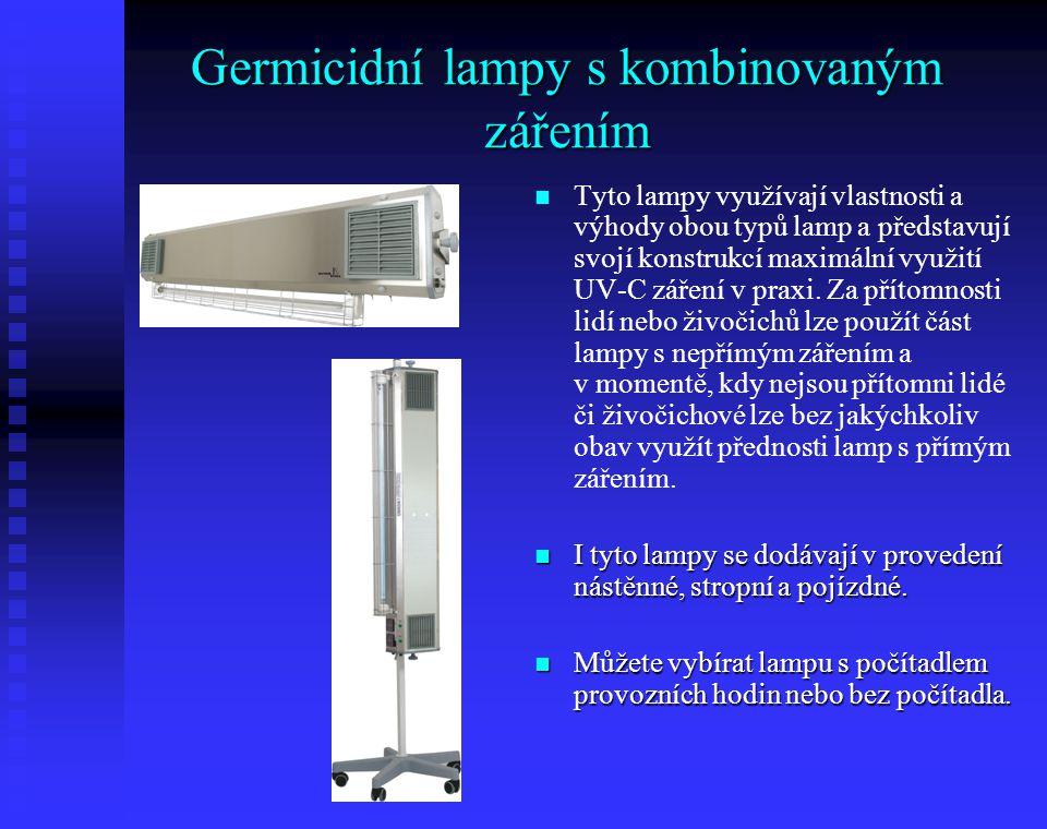 Germicidní lampy s kombinovaným zářením