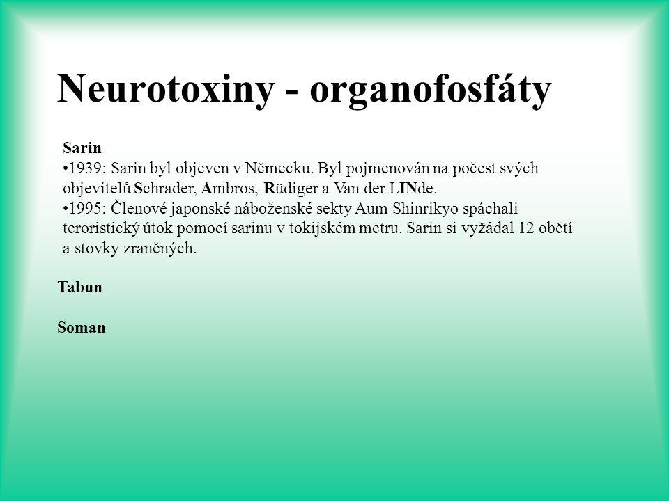Neurotoxiny - organofosfáty