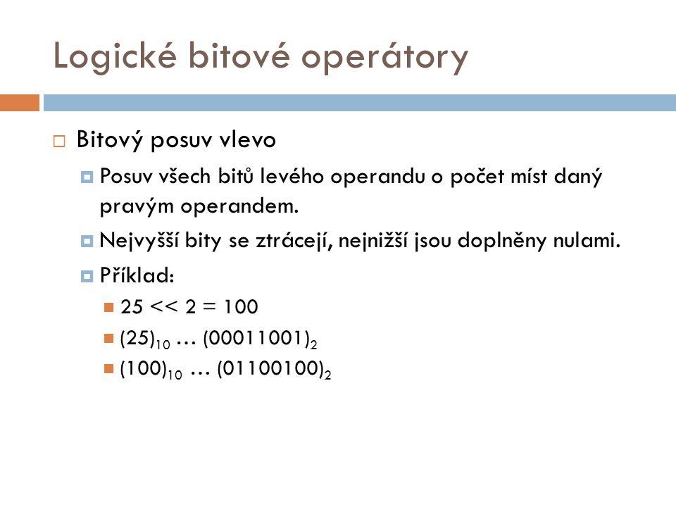 Logické bitové operátory