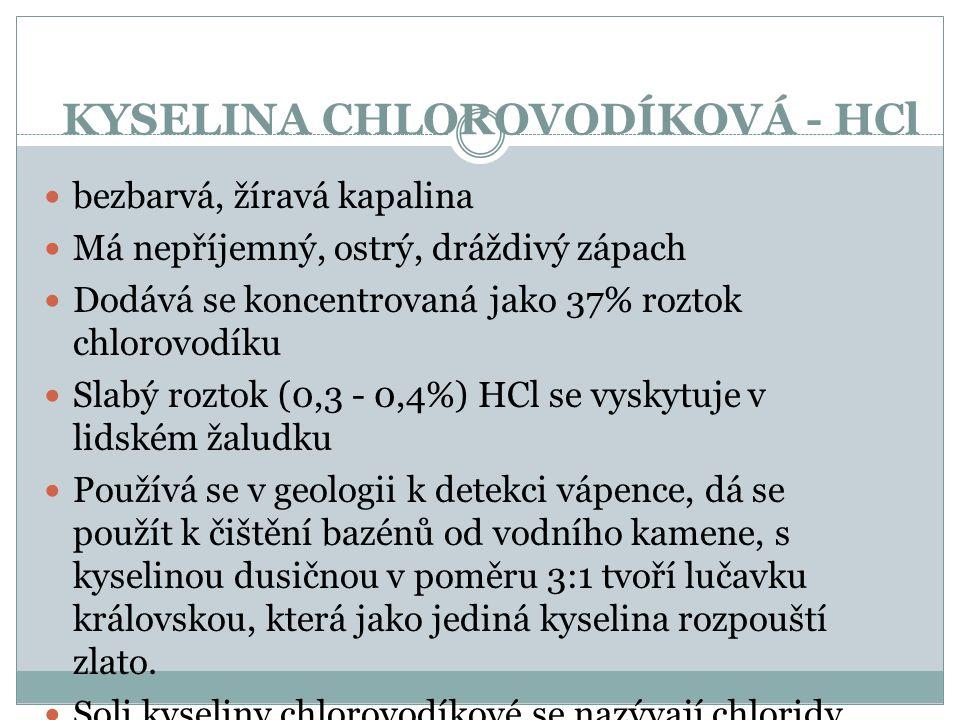 KYSELINA CHLOROVODÍKOVÁ - HCl