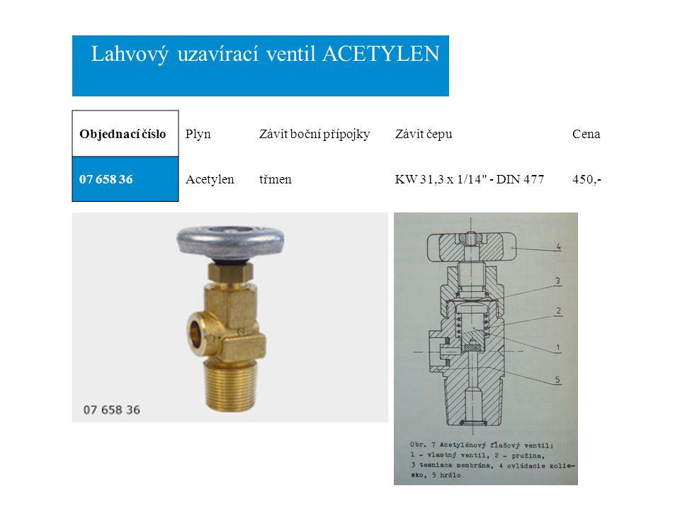 Lahvový uzavírací ventil ACETYLEN