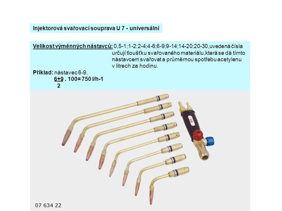 Injektorová svařovací souprava U 7 - universální