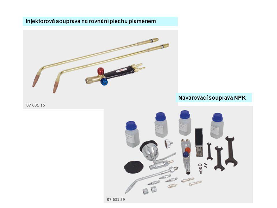Injektorová souprava na rovnání plechu plamenem