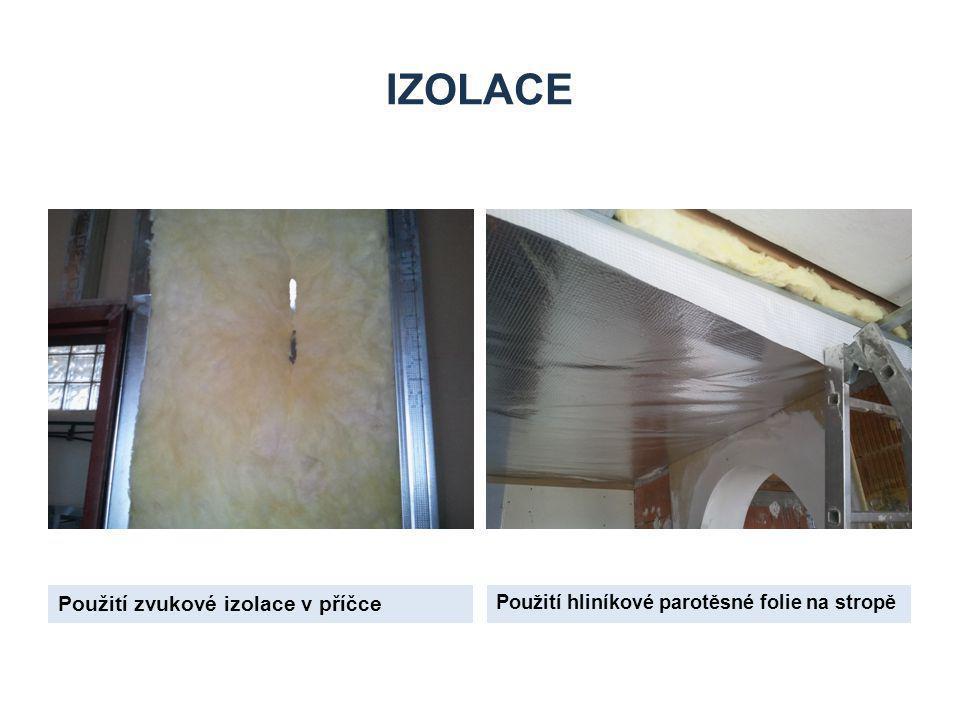izolace Použití zvukové izolace v příčce