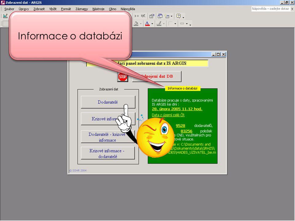 Informace o databázi
