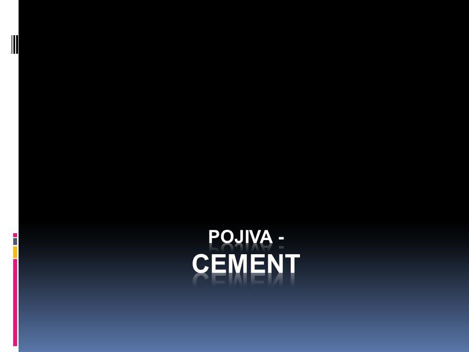 Pojiva - Cement
