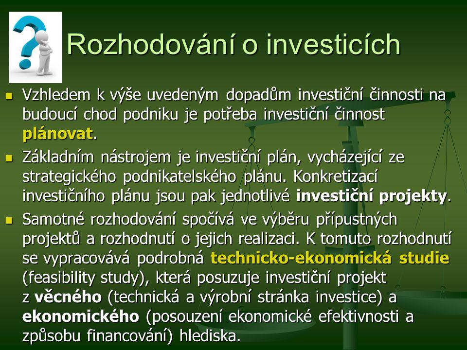 Rozhodování o investicích