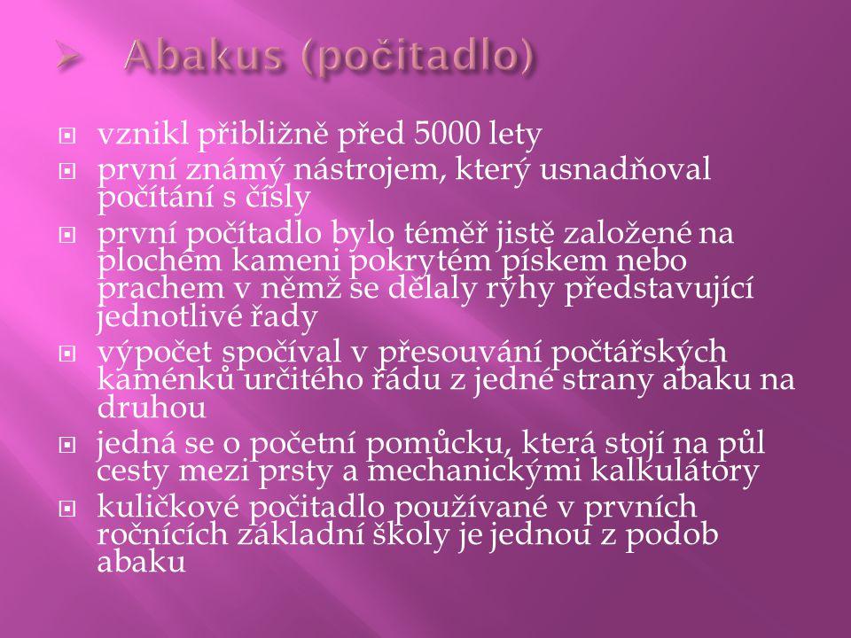 Abakus (počitadlo) vznikl přibližně před 5000 lety