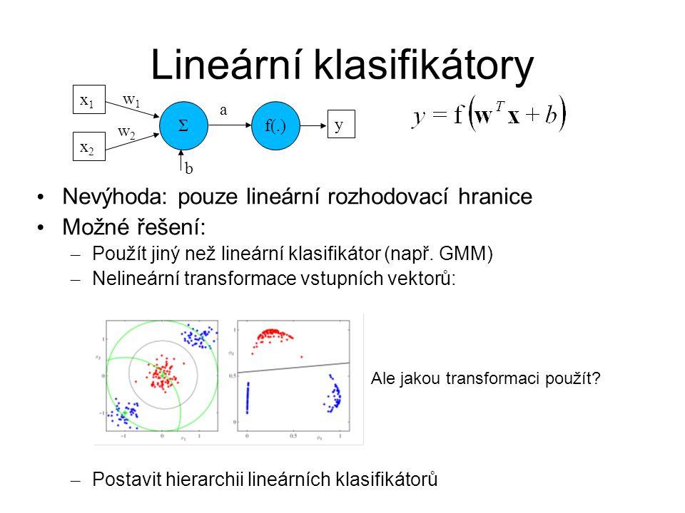 Lineární klasifikátory
