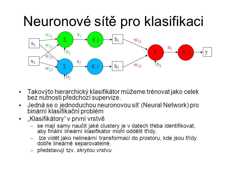 Neuronové sítě pro klasifikaci