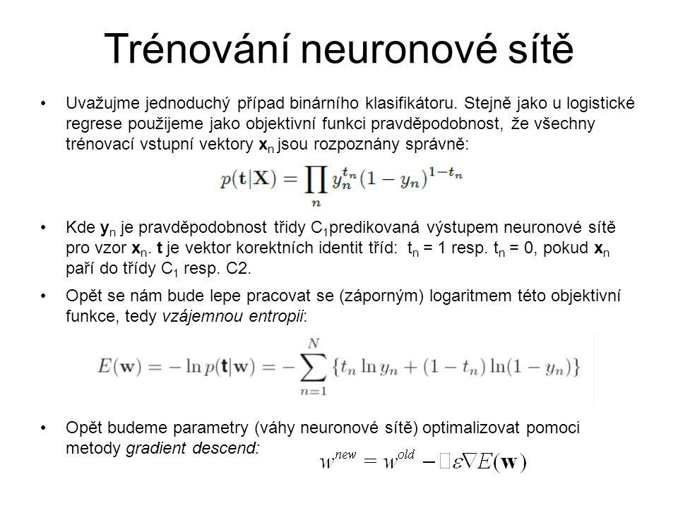 Trénování neuronové sítě