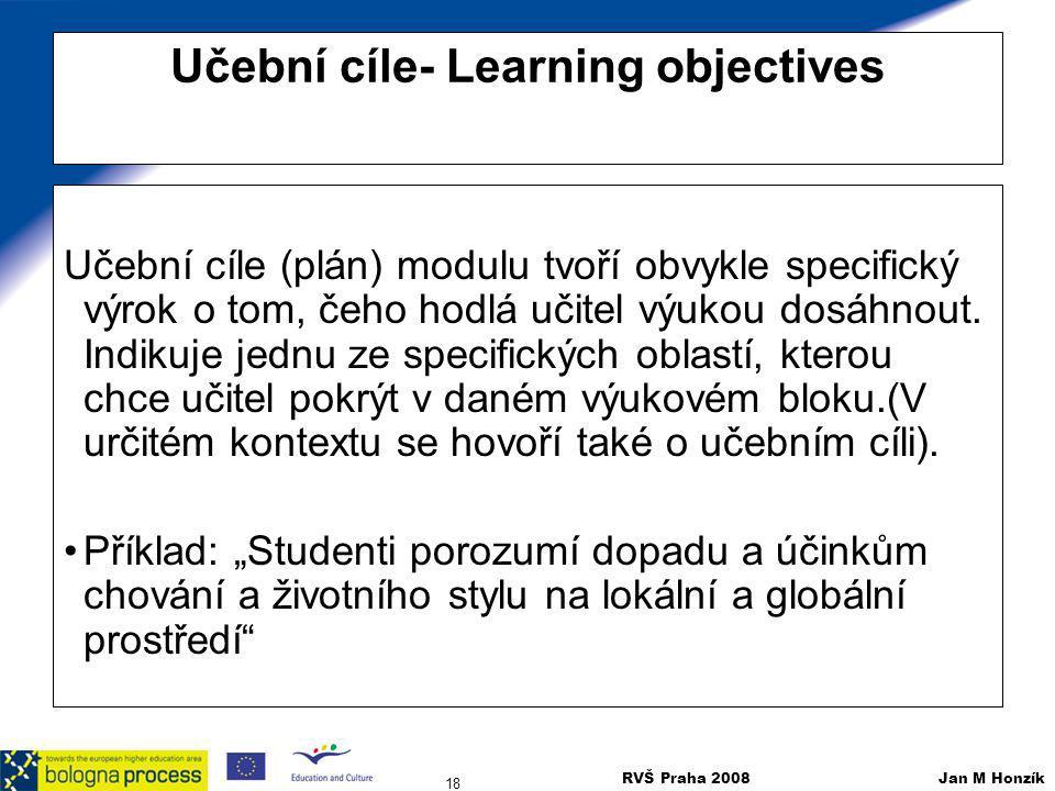 Učební cíle- Learning objectives