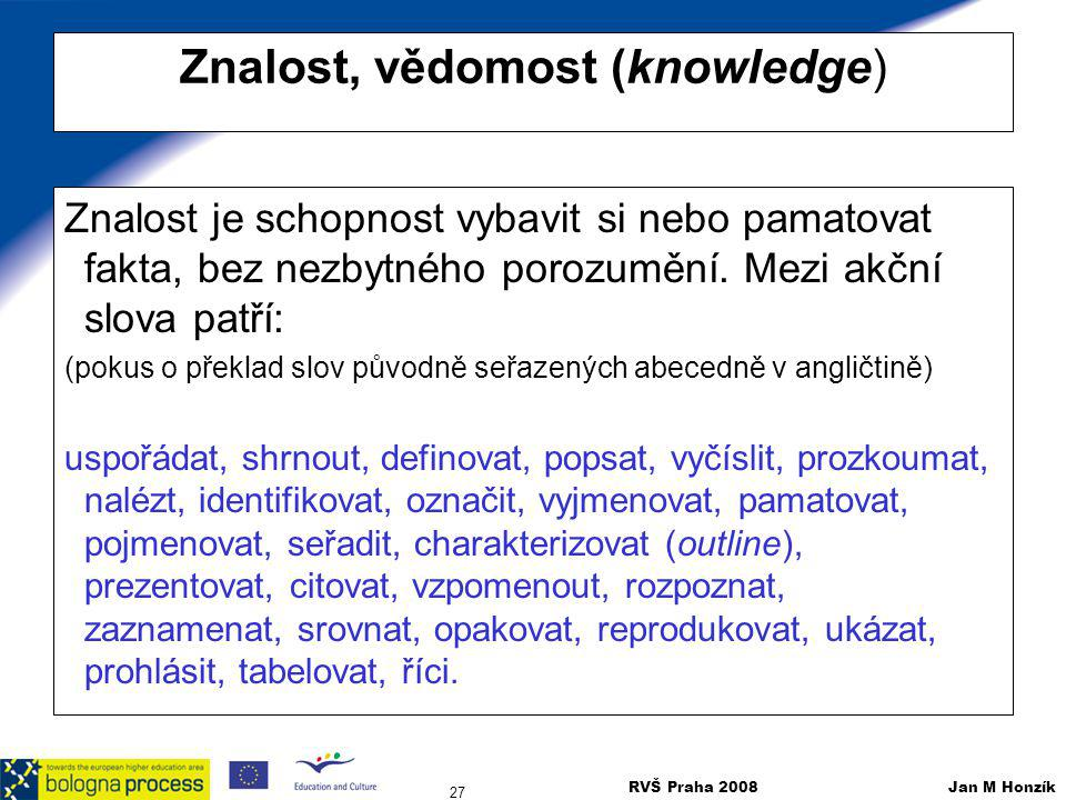 Znalost, vědomost (knowledge)