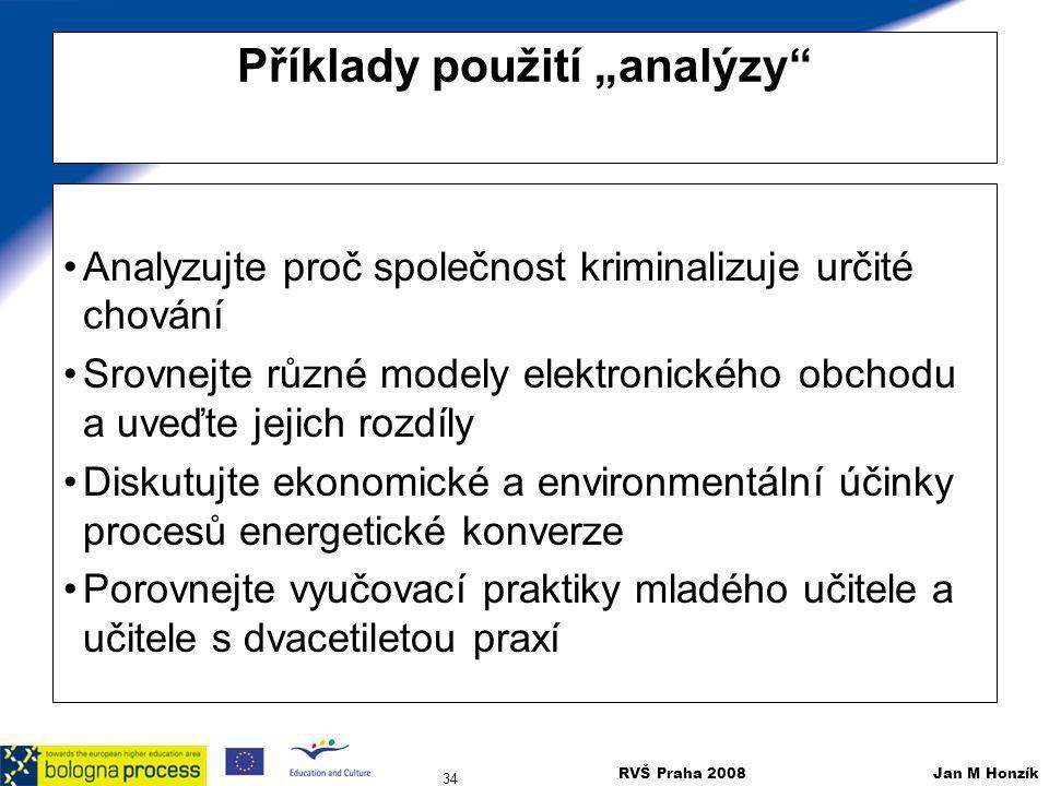 """Příklady použití """"analýzy"""