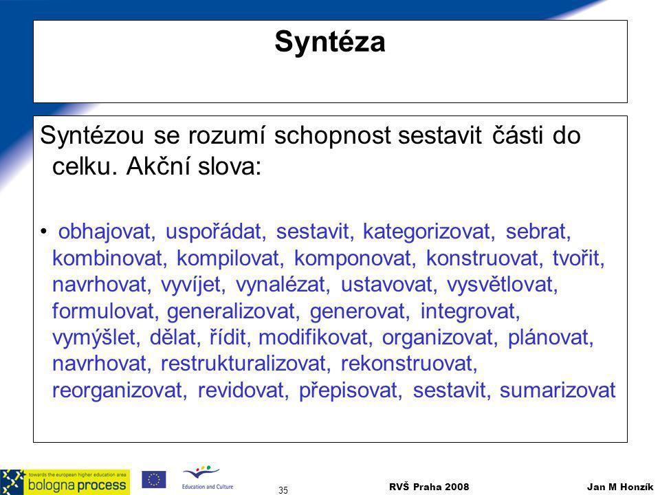 Syntéza Syntézou se rozumí schopnost sestavit části do celku. Akční slova: