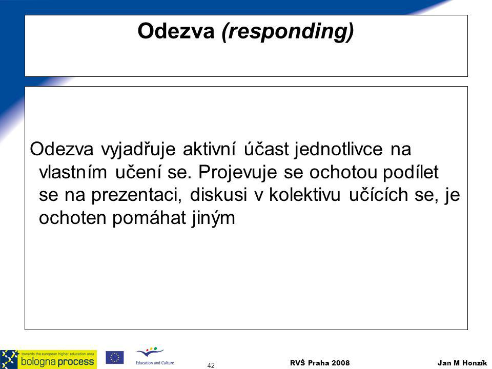 Odezva (responding)