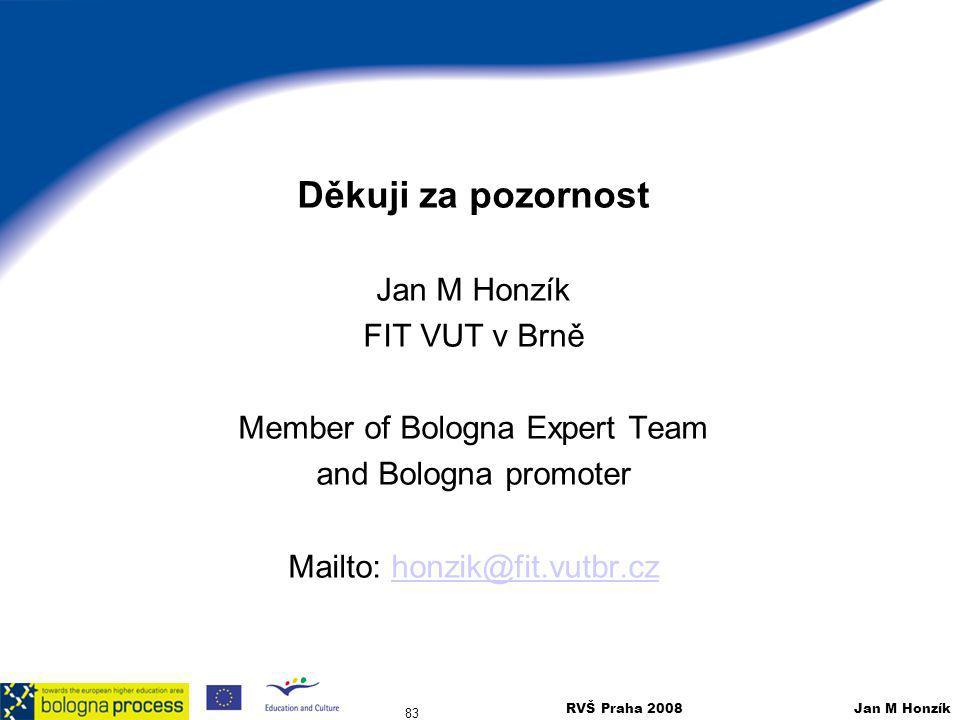 Děkuji za pozornost Jan M Honzík FIT VUT v Brně