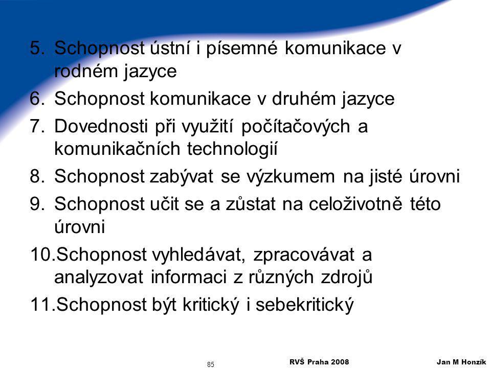 Schopnost ústní i písemné komunikace v rodném jazyce