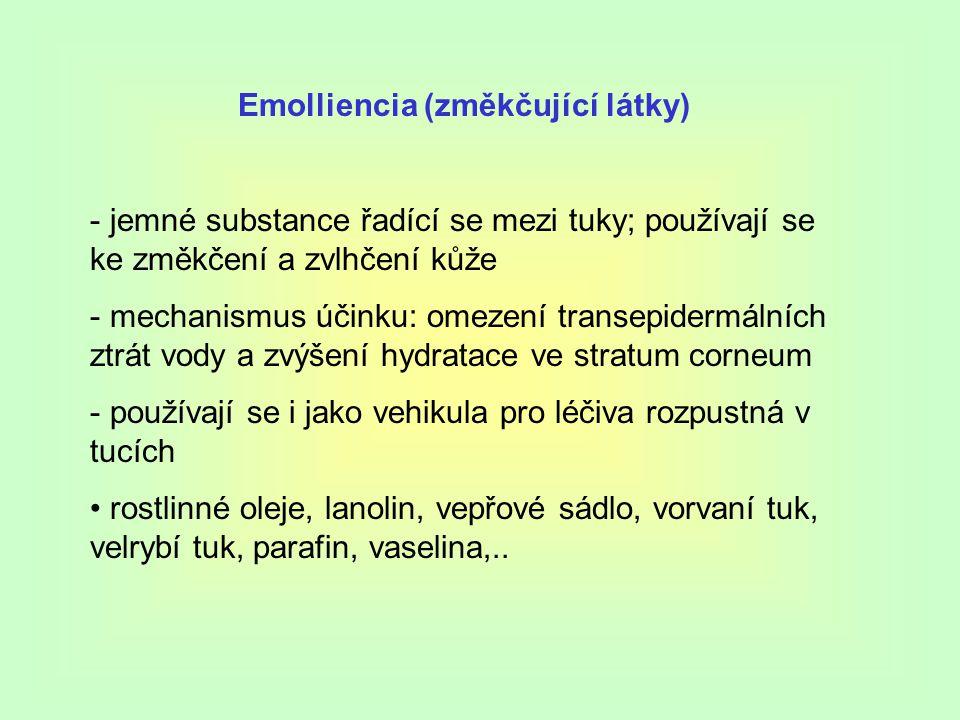 Emolliencia (změkčující látky)