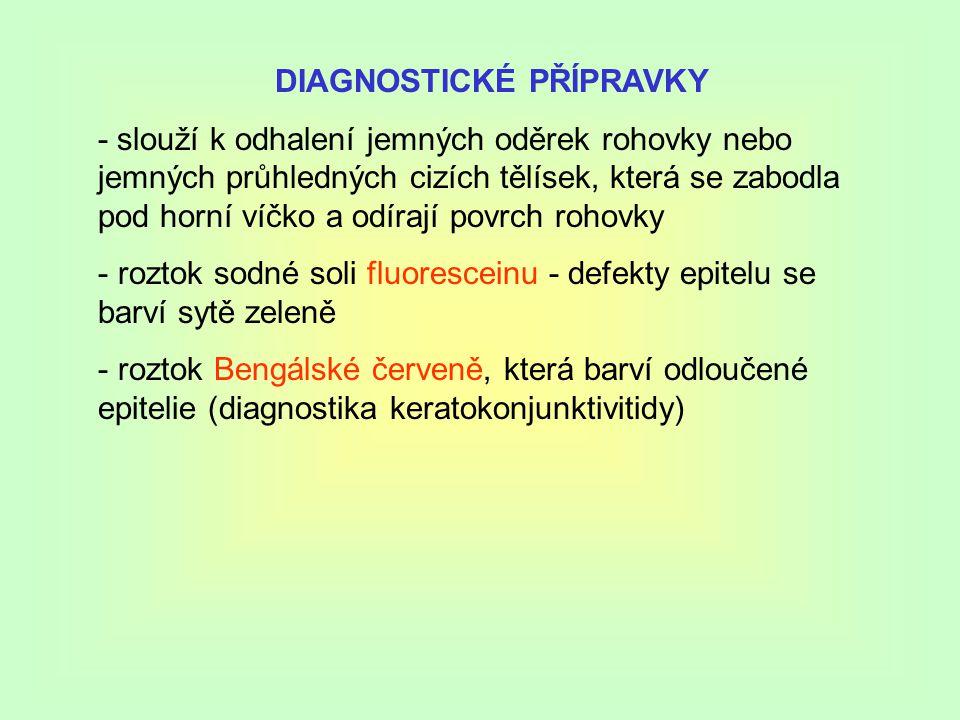 DIAGNOSTICKÉ PŘÍPRAVKY