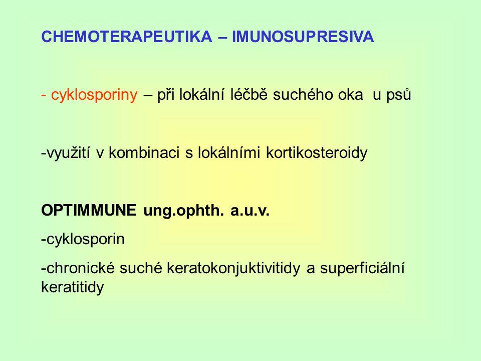 CHEMOTERAPEUTIKA – IMUNOSUPRESIVA