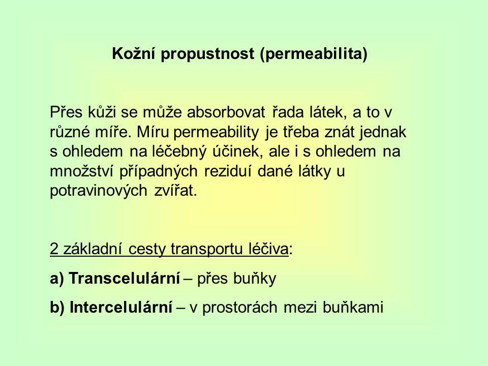 Kožní propustnost (permeabilita)