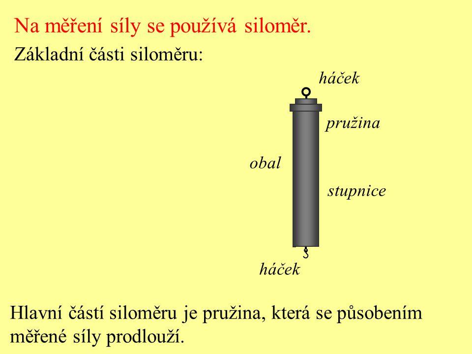 Na měření síly se používá siloměr.