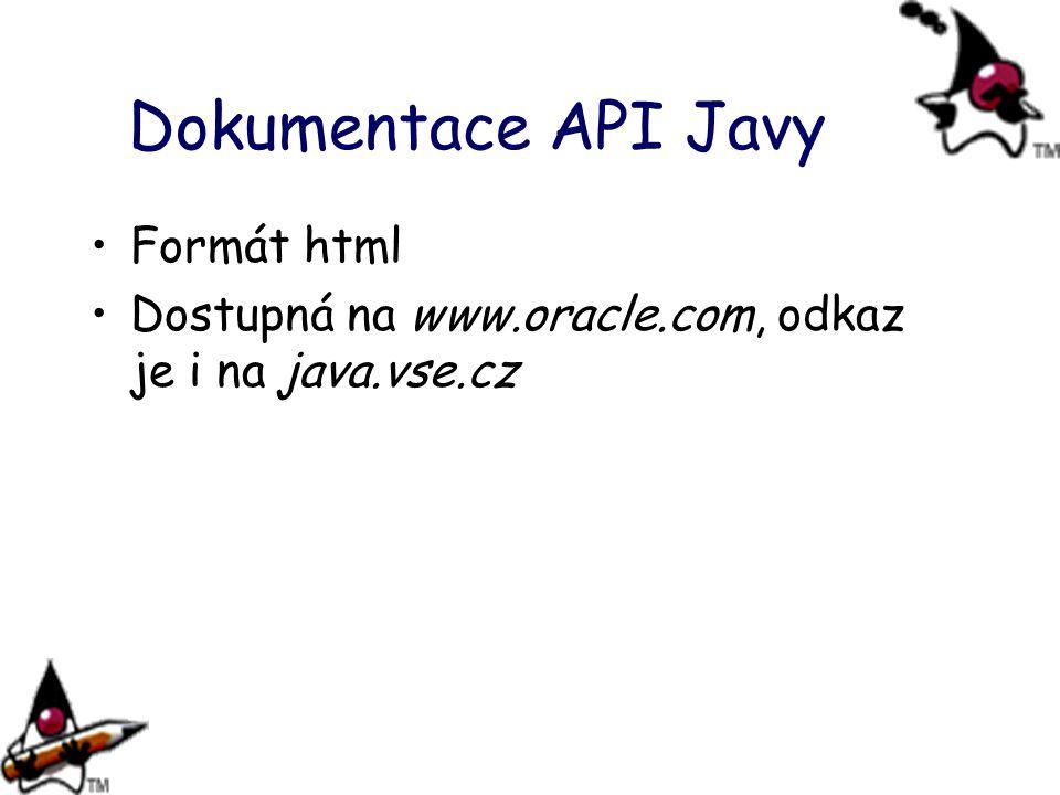 Dokumentace API Javy Formát html