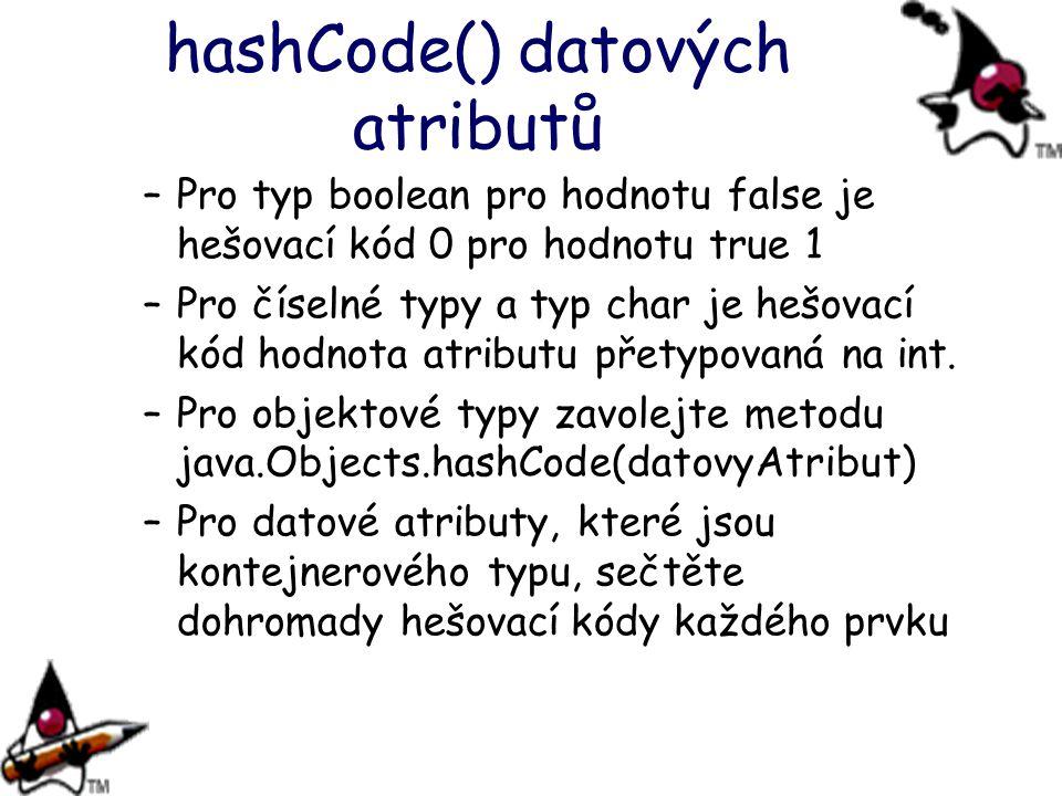 hashCode() datových atributů