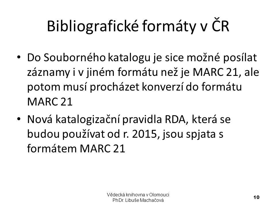Bibliografické formáty v ČR