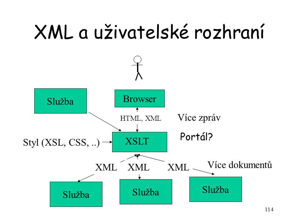 XML a uživatelské rozhraní