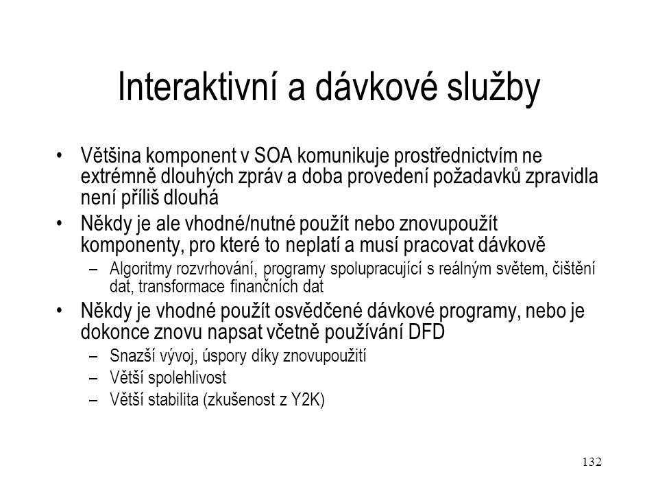 Interaktivní a dávkové služby