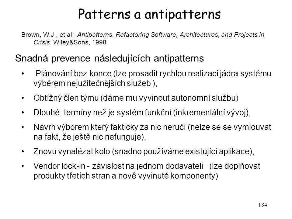 Patterns a antipatterns