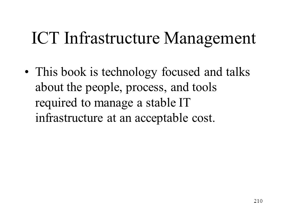 ICT Infrastructure Management