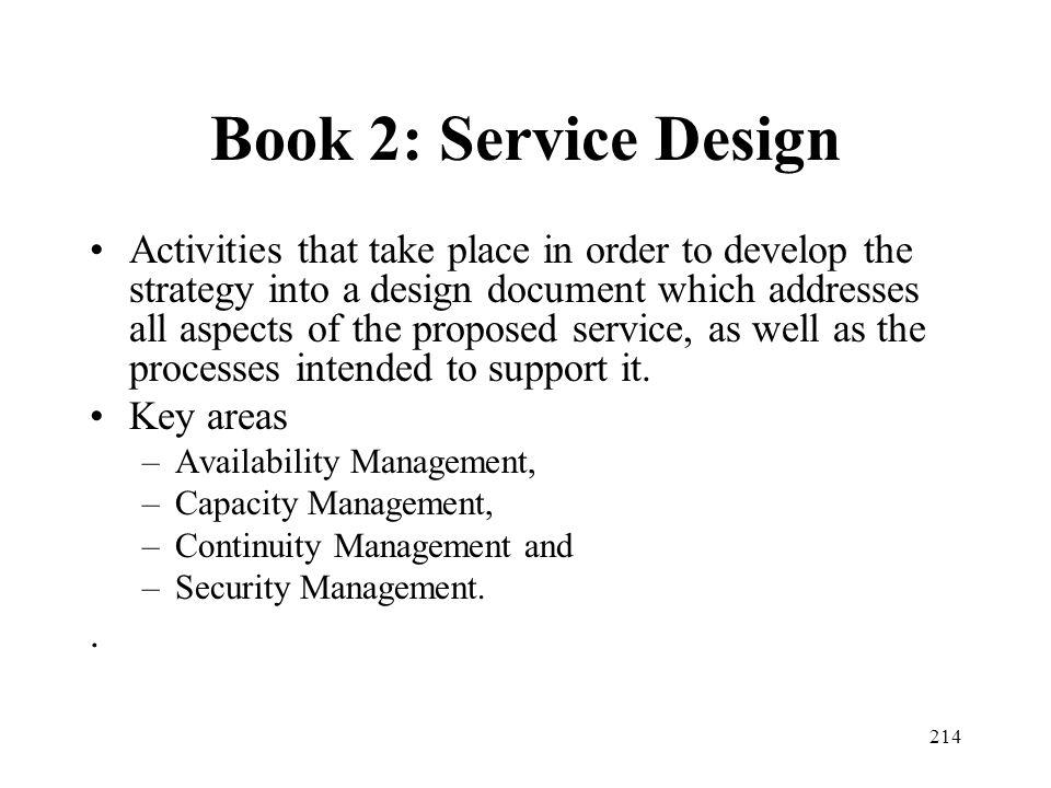 Book 2: Service Design
