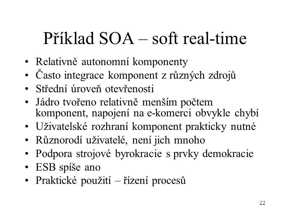 Příklad SOA – soft real-time