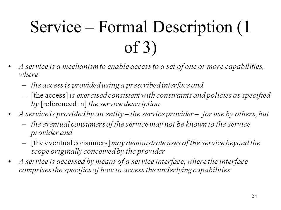 Service – Formal Description (1 of 3)