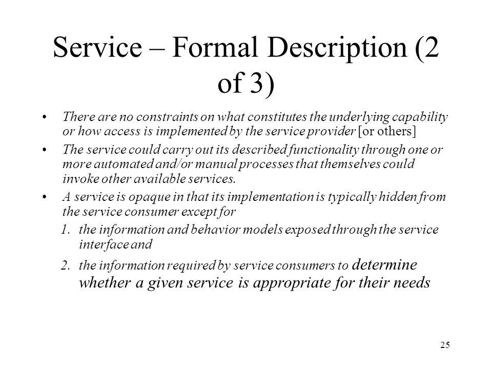 Service – Formal Description (2 of 3)
