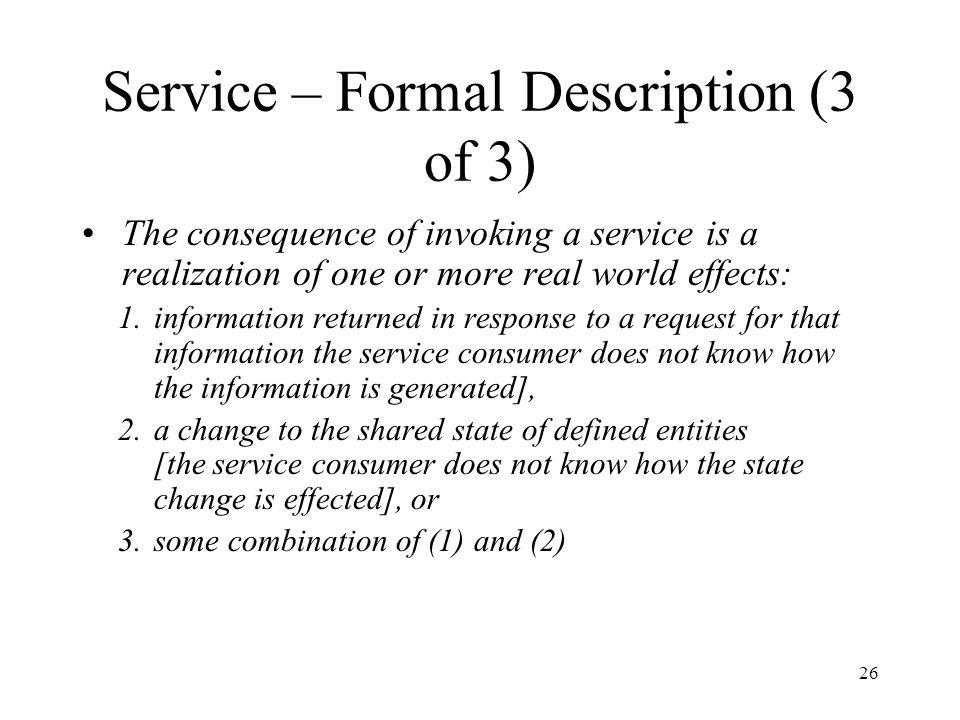 Service – Formal Description (3 of 3)