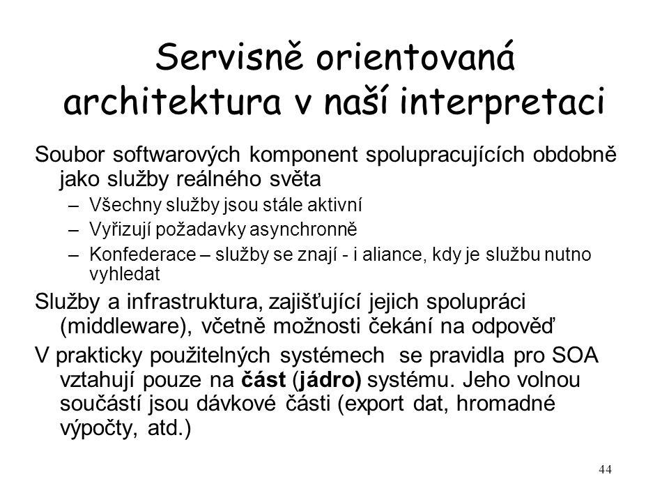 Servisně orientovaná architektura v naší interpretaci