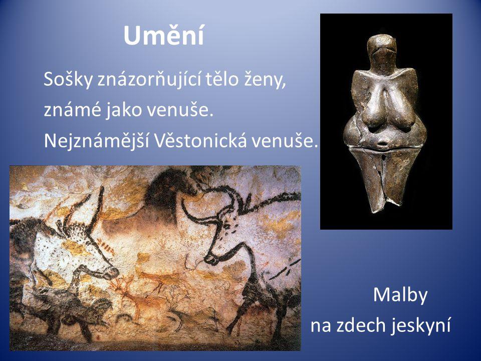 Umění Sošky znázorňující tělo ženy, známé jako venuše.