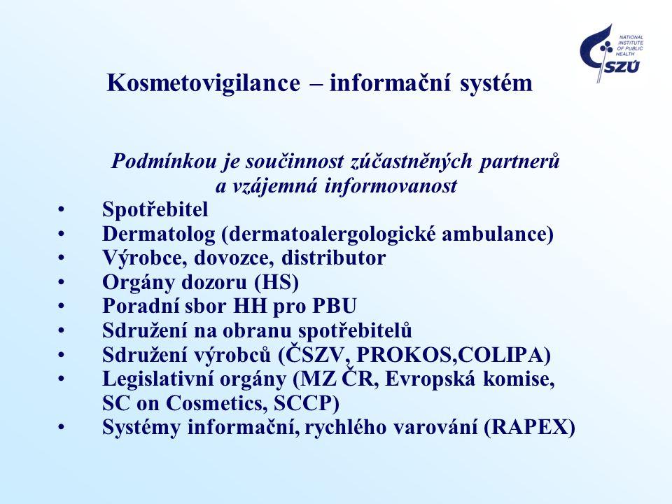Kosmetovigilance – informační systém