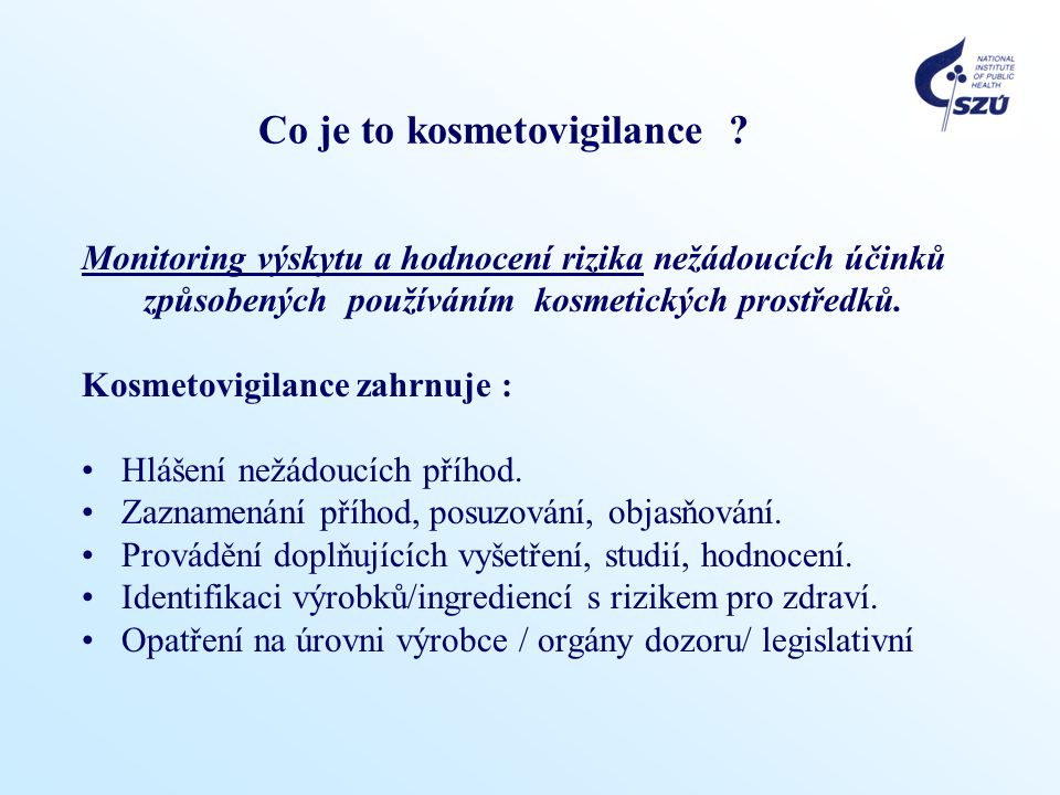 Co je to kosmetovigilance