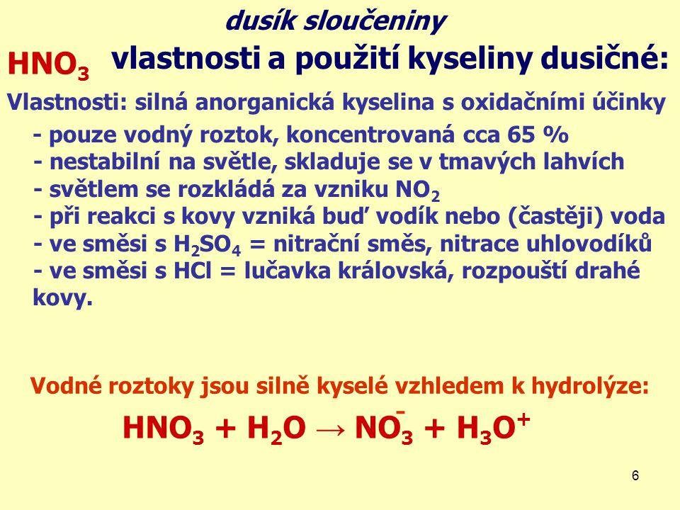 Vodné roztoky jsou silně kyselé vzhledem k hydrolýze: