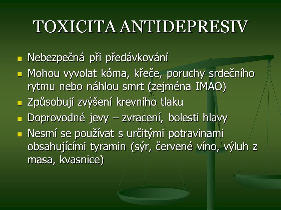 TOXICITA ANTIDEPRESIV