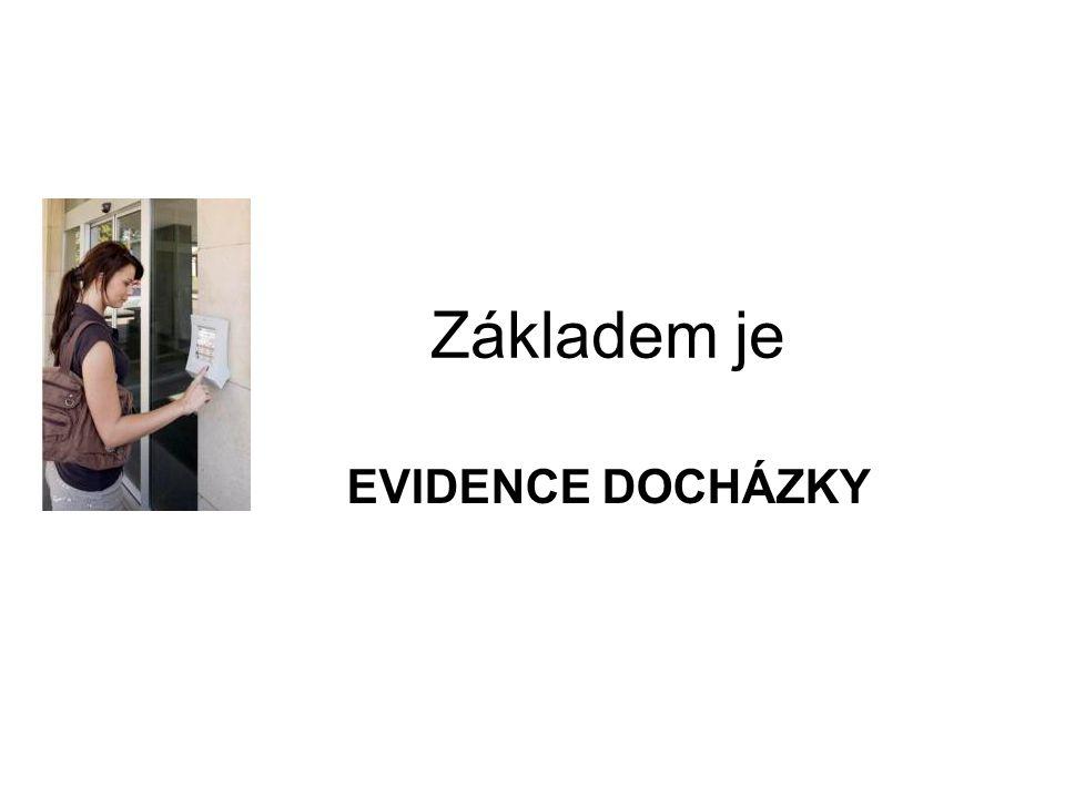 Základem je EVIDENCE DOCHÁZKY