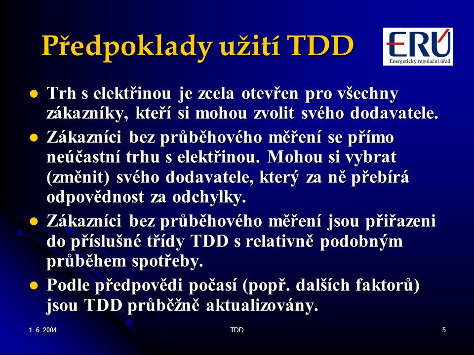 Předpoklady užití TDD Trh s elektřinou je zcela otevřen pro všechny zákazníky, kteří si mohou zvolit svého dodavatele.